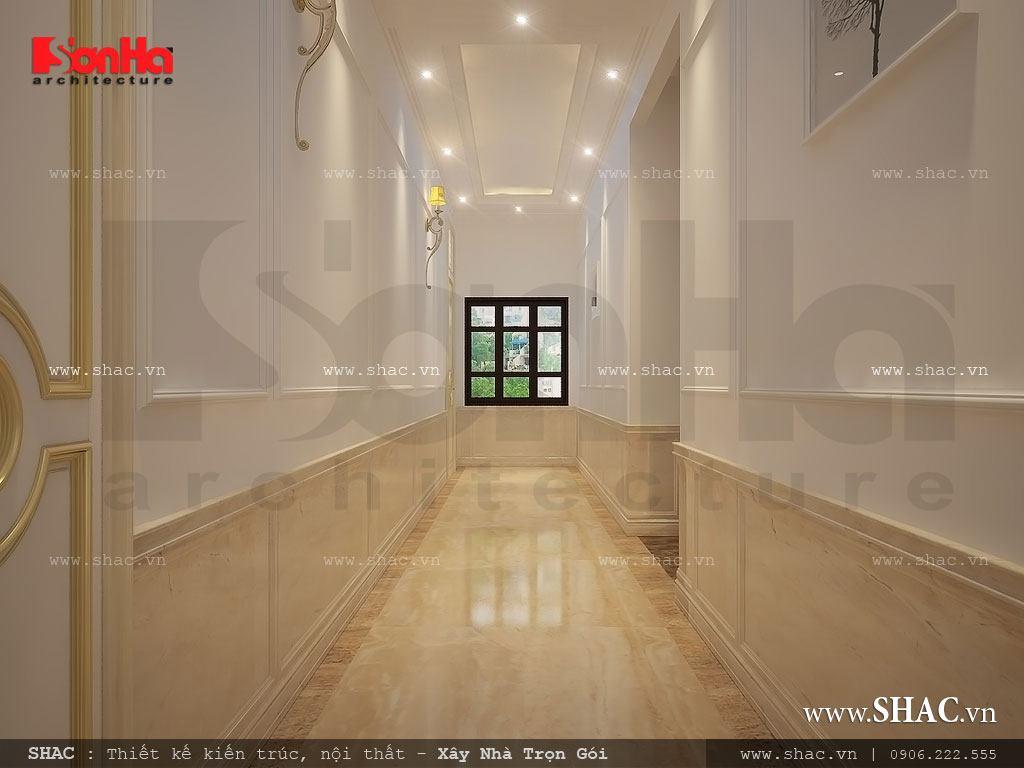 Thiết kế hành lang các tầng đẹp