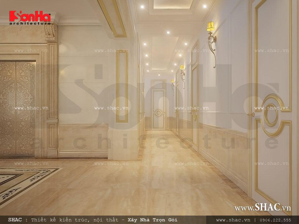 Khu hành lang các tầng của khách sạn