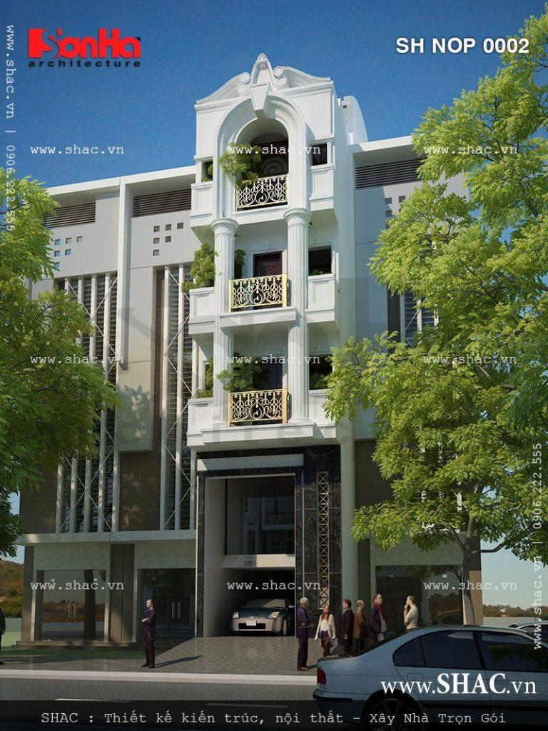 Thiết kế nhà phố 5 tầng kiến trúc Pháp tại Hải Phòng – NOP 0002