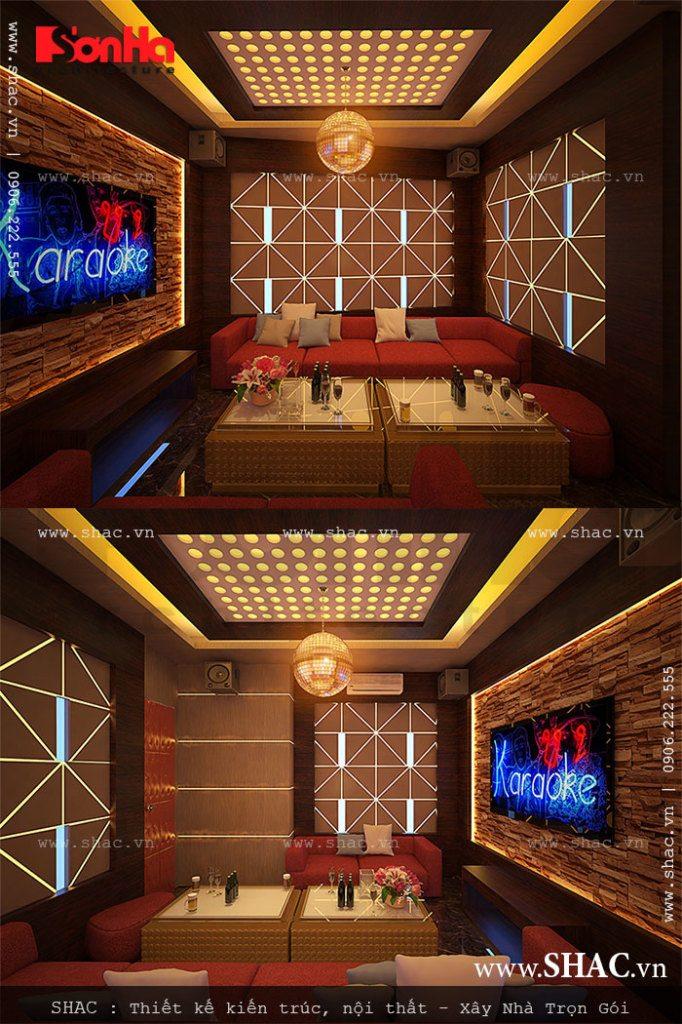 Phòng karaoke hiện đại và sang trọng
