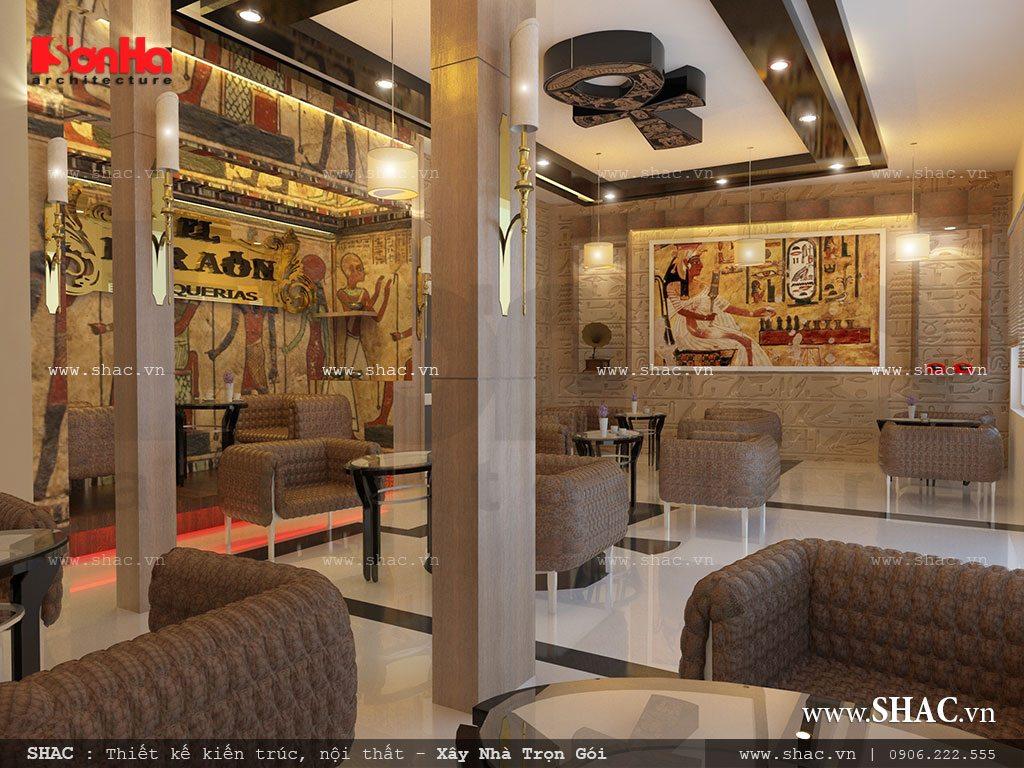 Nội thất quán cafe pharaon