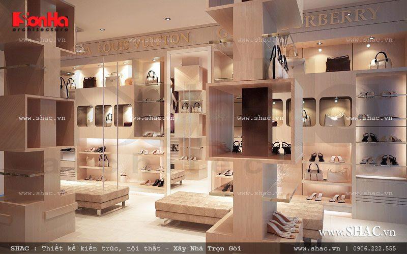 Thiết kế hợp lý và sang trọng cho shop