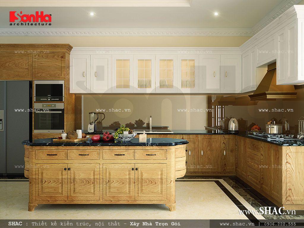 Tủ bếp bằng gỗ đẹp