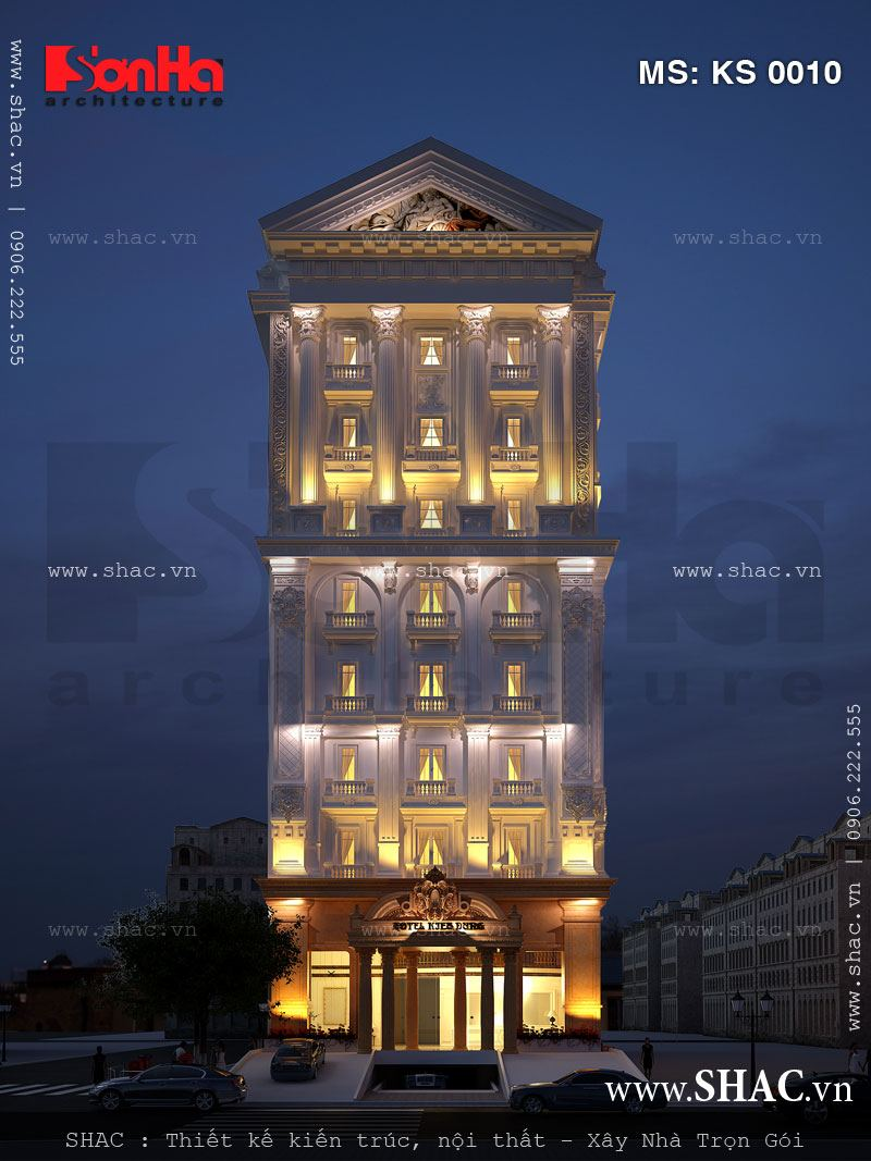 Khách sạn Riverside tiêu chuẩn 4 sao phong cách cổ điển sang trọng đẹp mắt