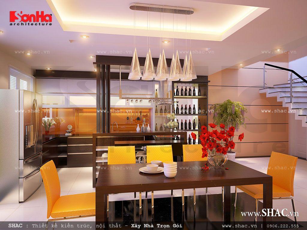 Phòng ăn hiện đại sang trọng