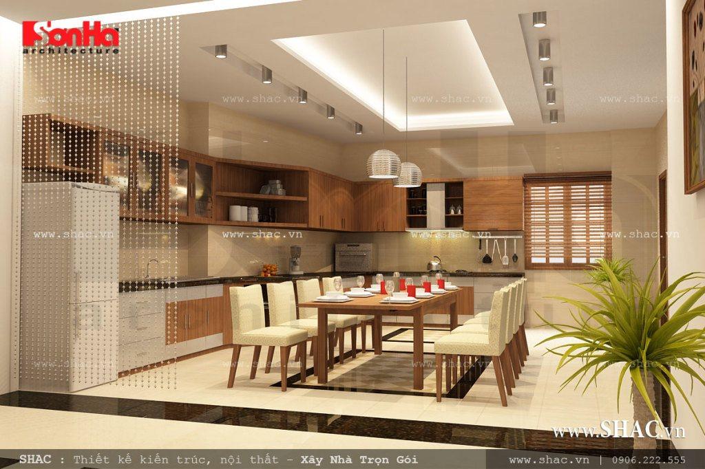 Phòng ăn gia đình đẹp