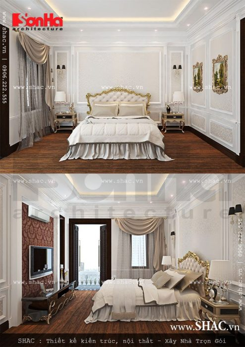 nội thất phòng ngủ đẹp dành cho nhà phố
