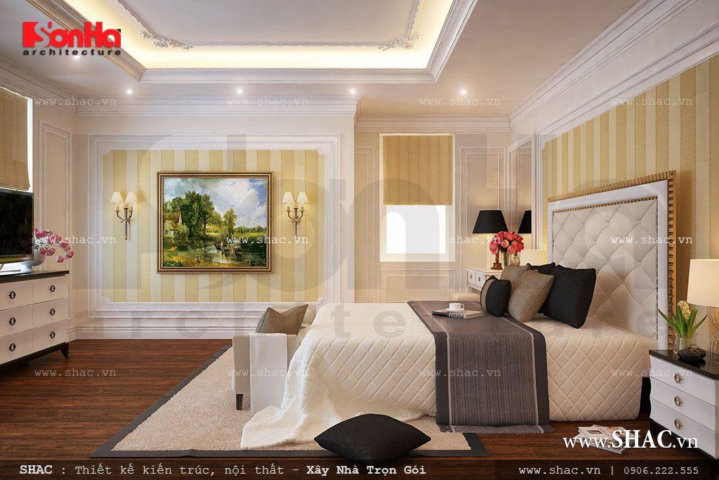Biệt thự 3 tầng mái chéo phong cách hiện đại - SH BTD 0027 6