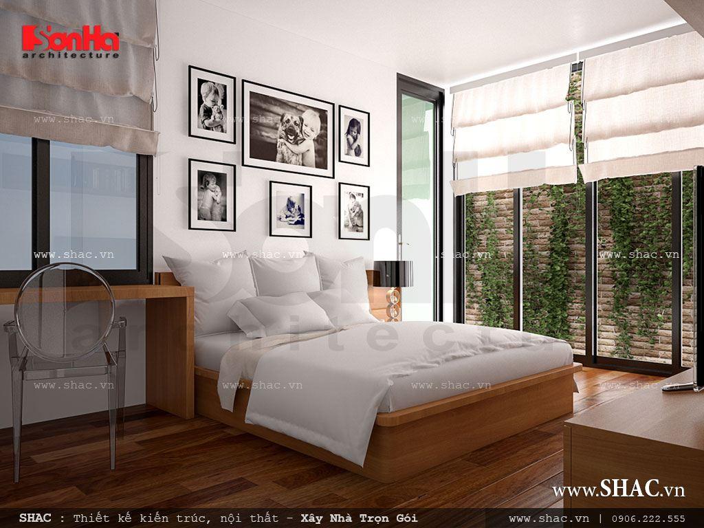 Mẫu phòng ngủ đẹp cho nhà ống hiện đại