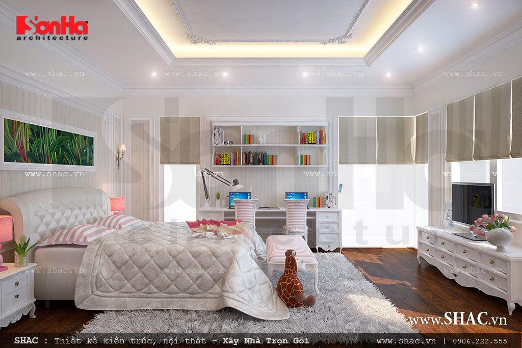 Biệt thự 3 tầng mái chéo phong cách hiện đại - SH BTD 0027 7