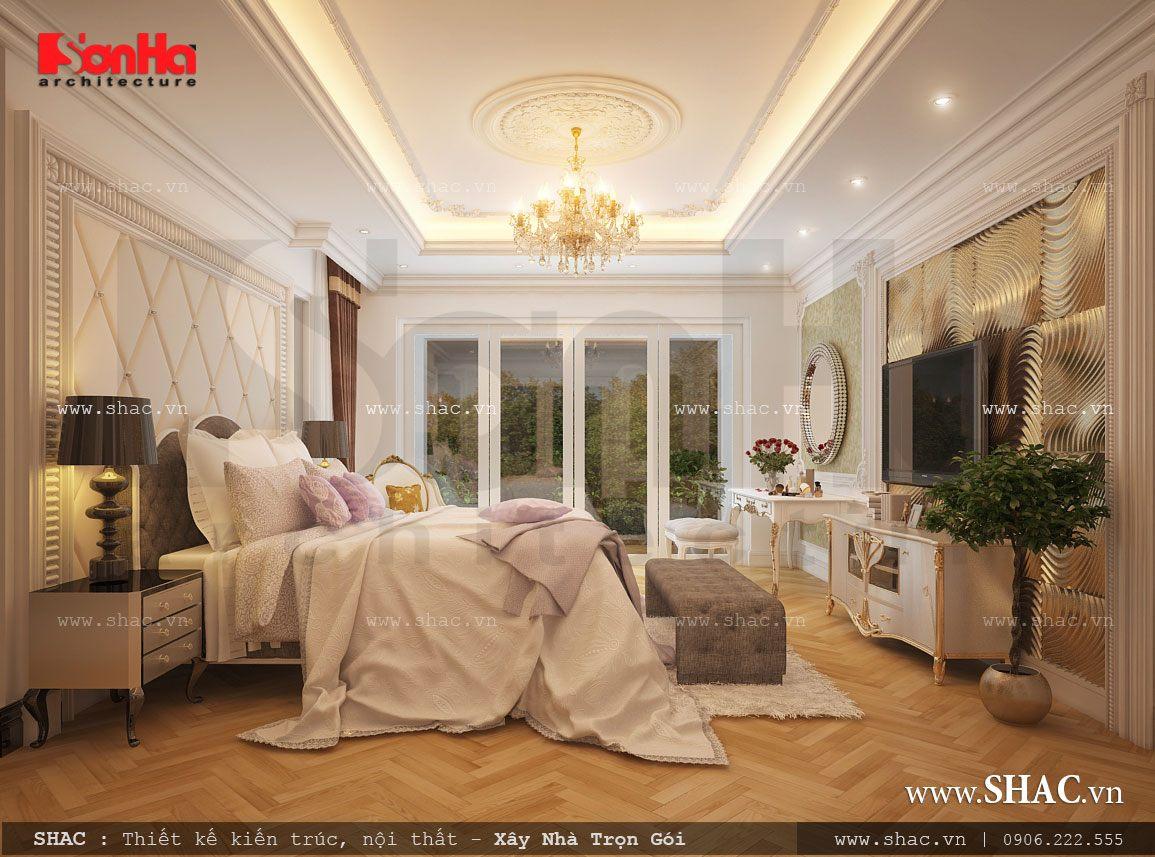 Biệt thự 3 tầng mái chéo phong cách hiện đại - SH BTD 0027 8