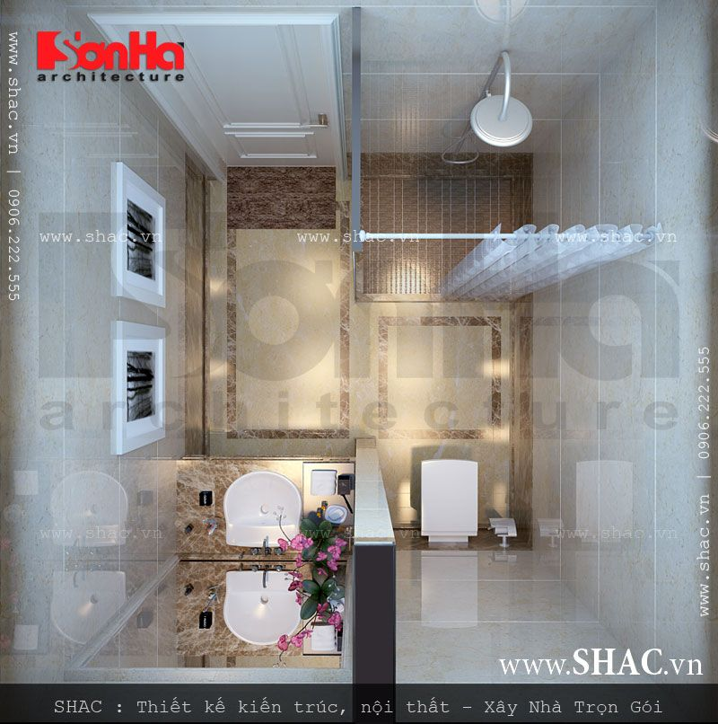 Phòng WC điển hình cho khách sạn