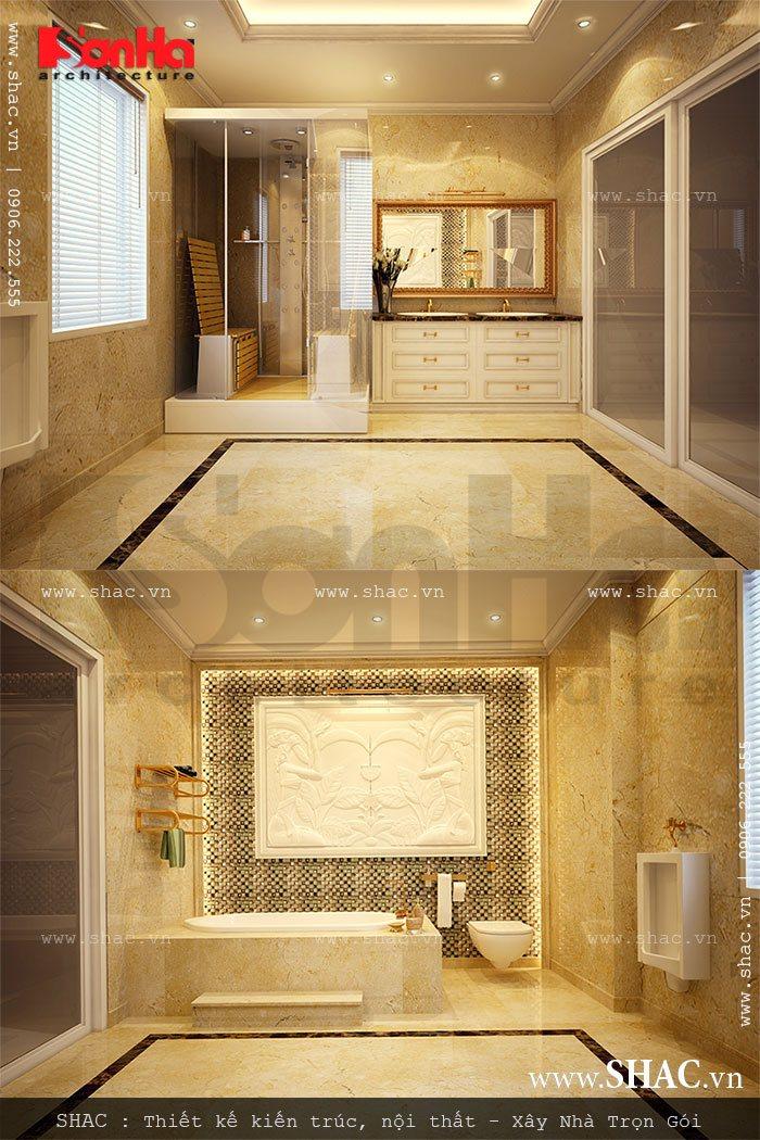 Biệt thự 3 tầng mái chéo phong cách hiện đại - SH BTD 0027 11