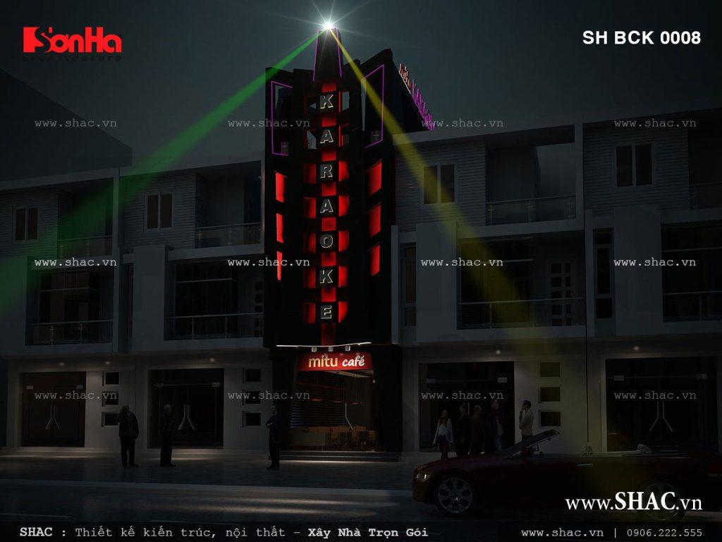 Khung cảnh quán karaoke ban đêm