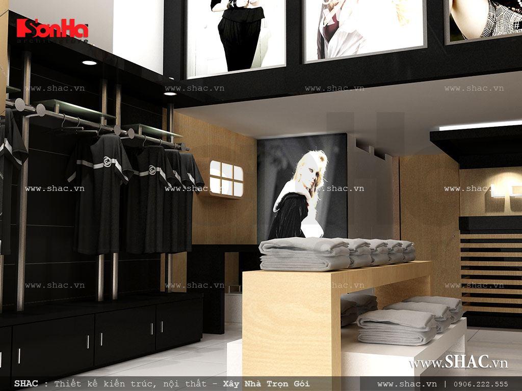 Thiết kế shop quần áo nam đẹp