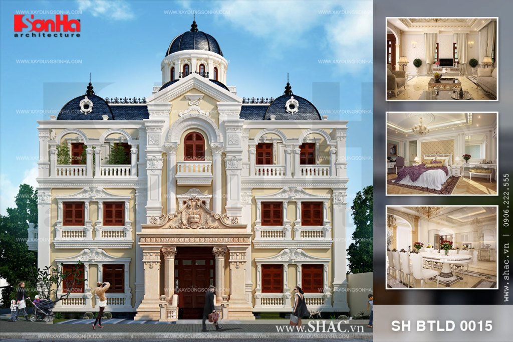 Thiết kế biệt thự kiểu lâu đài Pháp