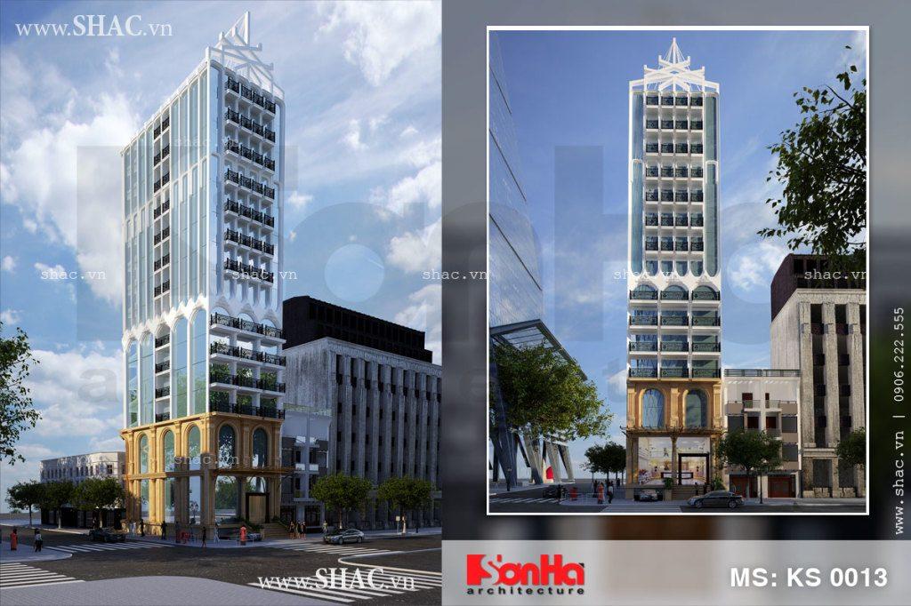 Thiết kế khách sạn 3 sao 16 tầng