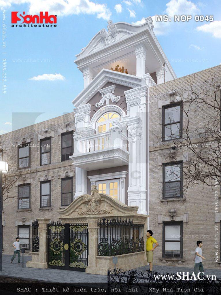 Nét đẹp thanh nhã của mẫu thiết kế nhà phố mặt tiền 5m kiểu Pháp thương hiệu SHAC