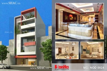 Thiết kế nhà phố kết hợp kinh doanh 6 tầng