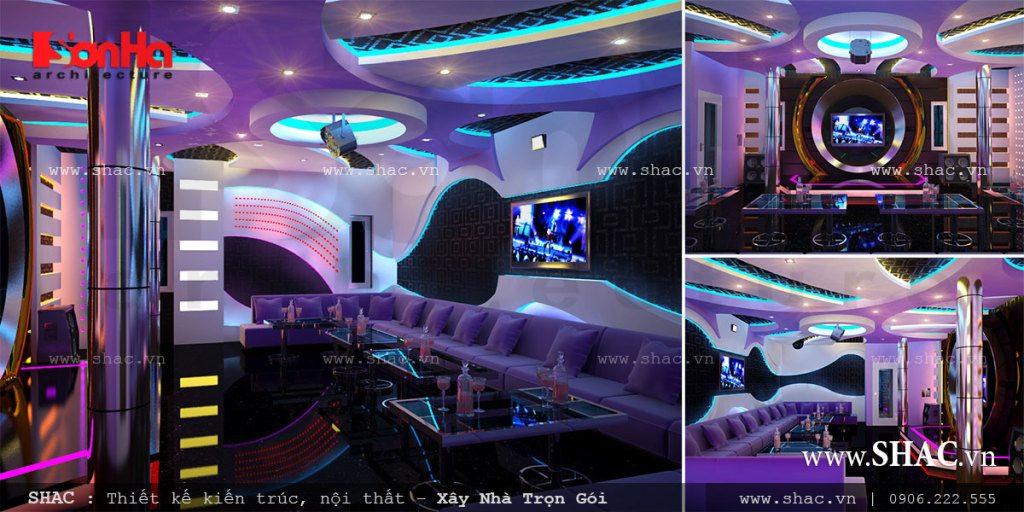 Phòng karaoke ấn tượng