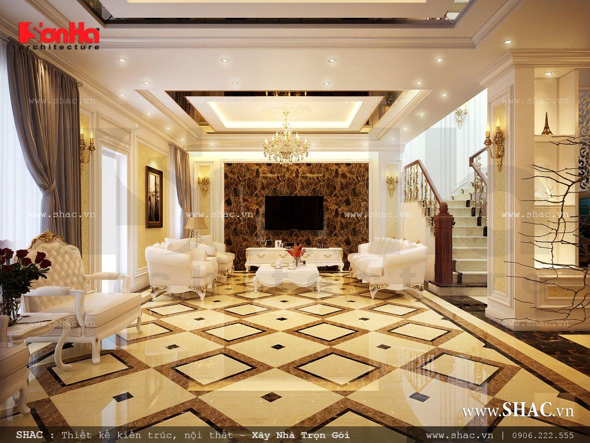 Biệt thự 3 tầng mái chéo phong cách hiện đại - SH BTD 0027 4