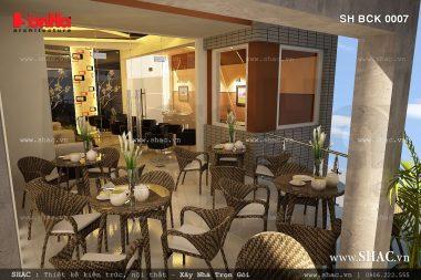 Thiết kế quán 3 tầng tại Hải Phòng