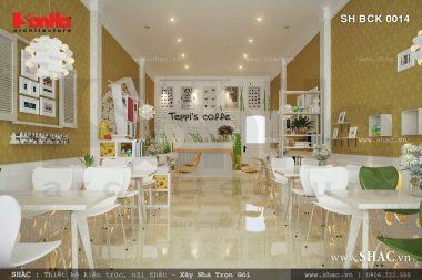Thiết kế quán Cafe Teppi's ấn tượng