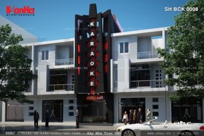 Thiết kế quán karaoke 3 tầng hiện đại