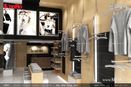 Thiết kế shop quần áo nam sang trọng