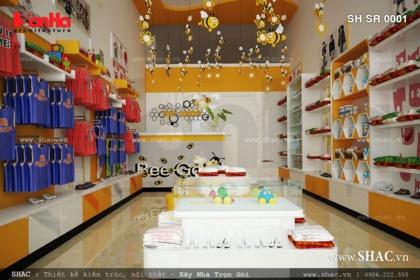 Thiết kế shop thời trang cho bé Bee Shop