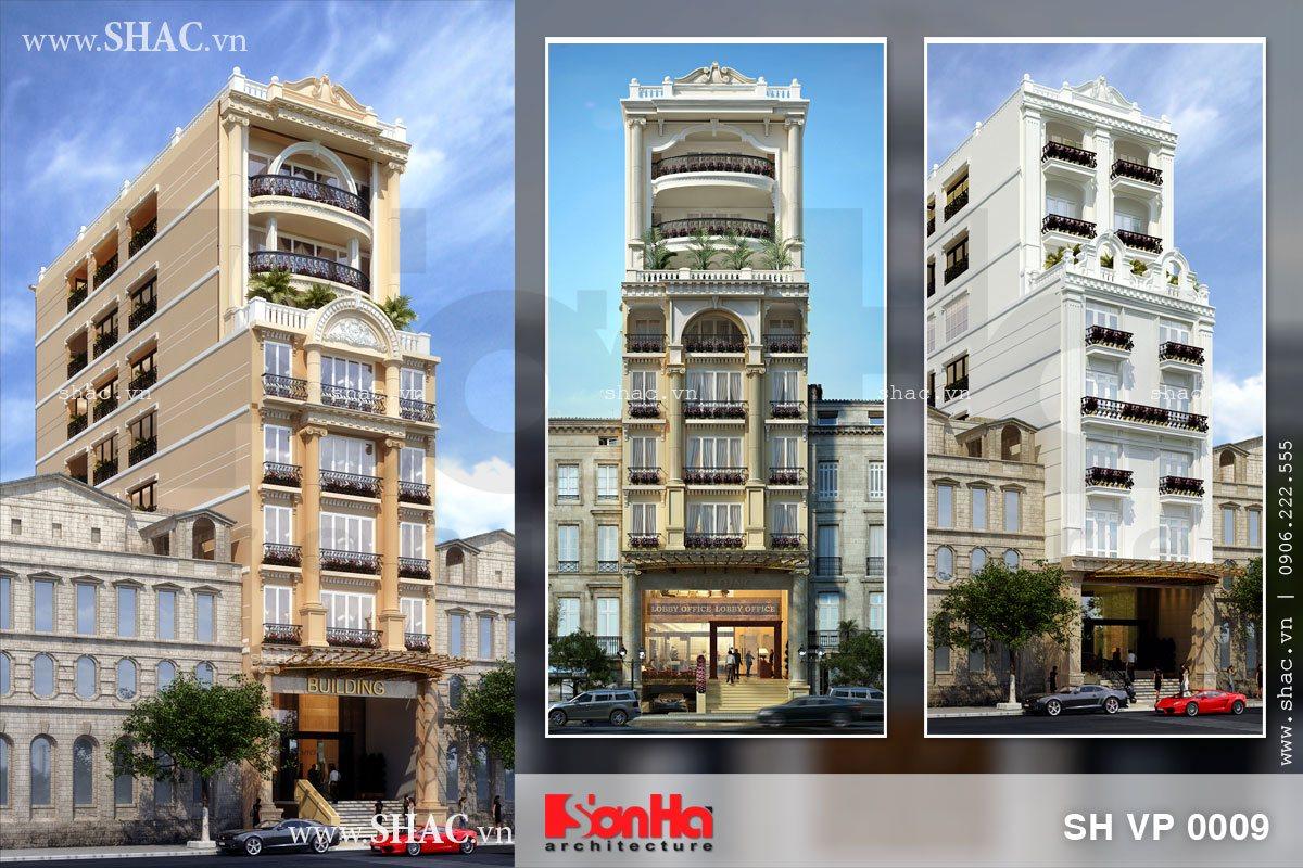 Thiết kế tòa nhà văn phòng cho thuê 8 tầng