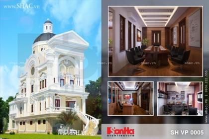 Thiết kế văn phòng công ty phong cách biệt thự Pháp
