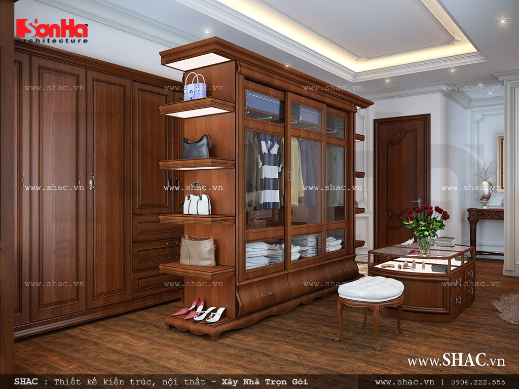 Thiết kế tủ quần áo ngay trong phòng ngủ