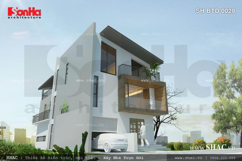 Biệt thự phố mặt tiền 7m diện tích 126m2 phong cách hiện đại