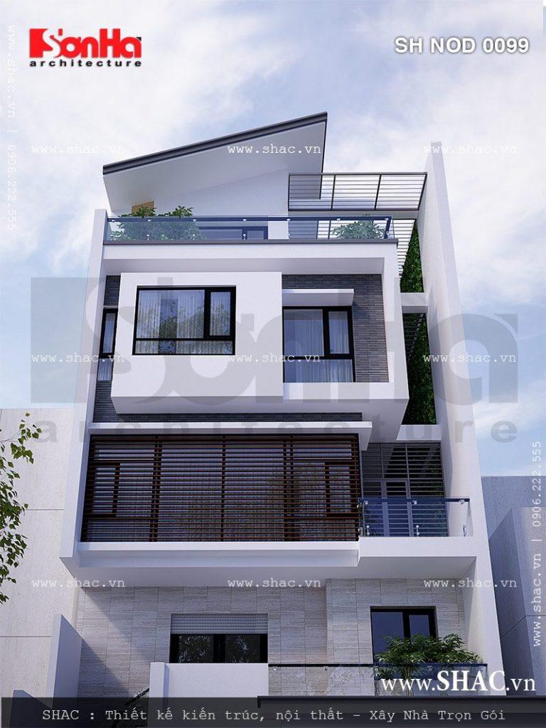Kiến trúc giả biệt thự đẹp cho nhà phố