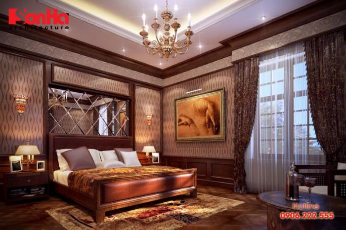 Mẫu thiết kế phòng ngủ đẹp với không gian mở phong cách cổ điển sang trọng