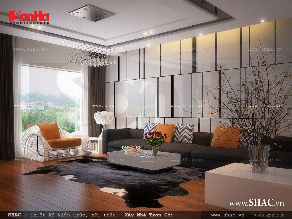 Phòng khách cho nhà ống hiện đại