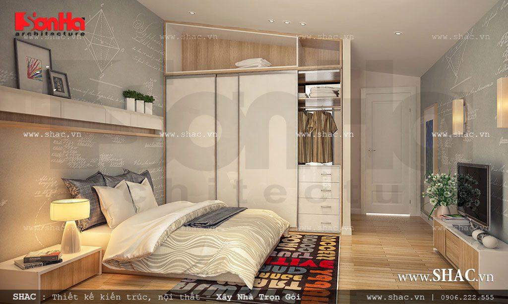 Mẫu thiết kế phòng ngủ biệt thự hiện đại đẹp, tiện nghi tại Hải Phòng