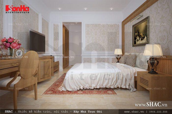 Mẫu thiết kế nội thất phòng ngủ điển hình khách sạn tiêu chuẩn 2 sao tiện nghi với màu sắc ấn tượng