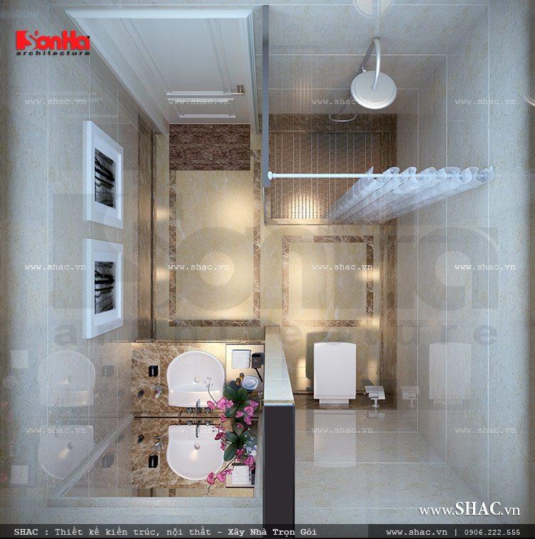 Trang bị và lắp đặt thiết bị vệ sinh sạch sẽ, tiện dụng trong mỗi phòng ngủ khách sạn tiêu chuẩn 2 sao