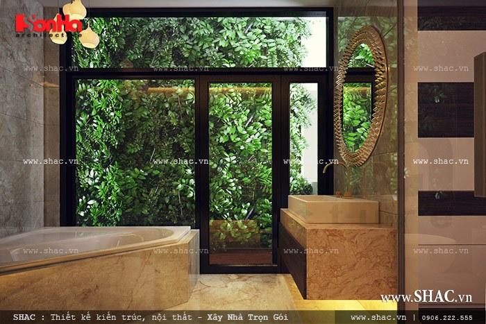 Phòng wc gần gũi thiên nhiên