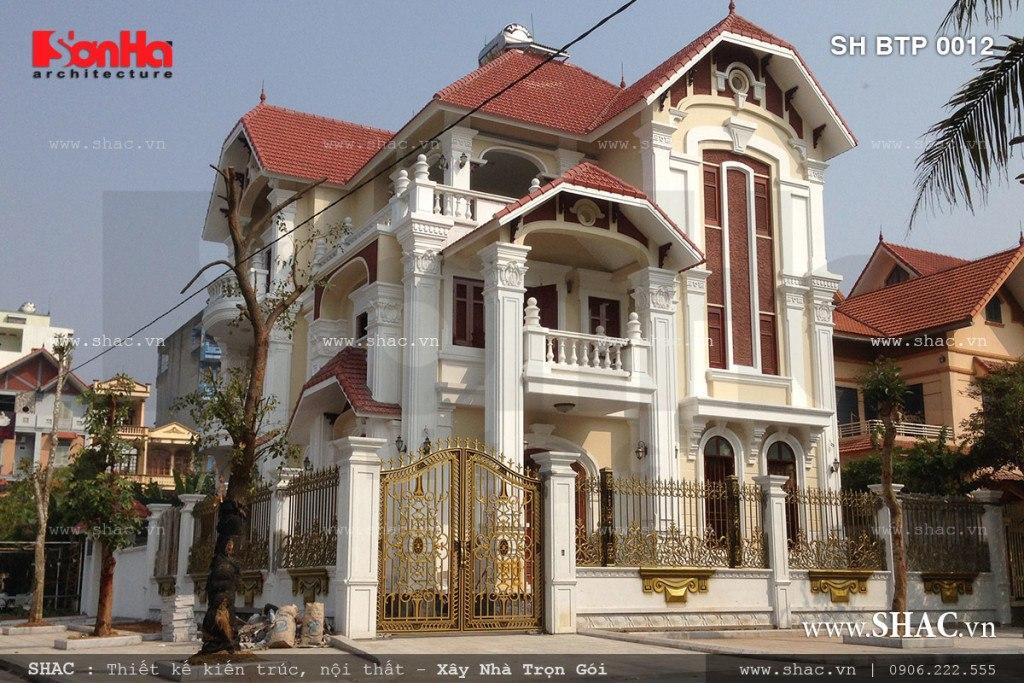 Hình ảnh thực tế thi công biệt thự trọn gói SH BTP 0012 tại Quảng Ninh
