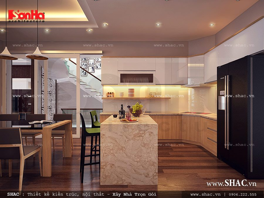 Tủ bếp phòng ăn đẹp