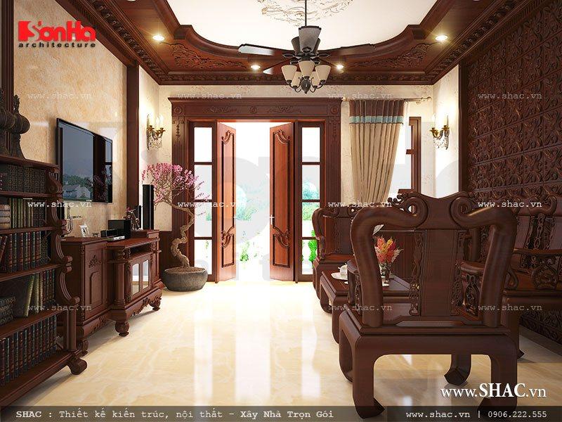 Phòng khách gỗ đẳng cấp