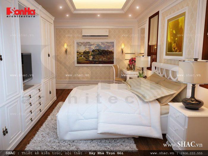 Phòng ngủ cho khách cũng được thiết kế rất khoa học và sang trọng