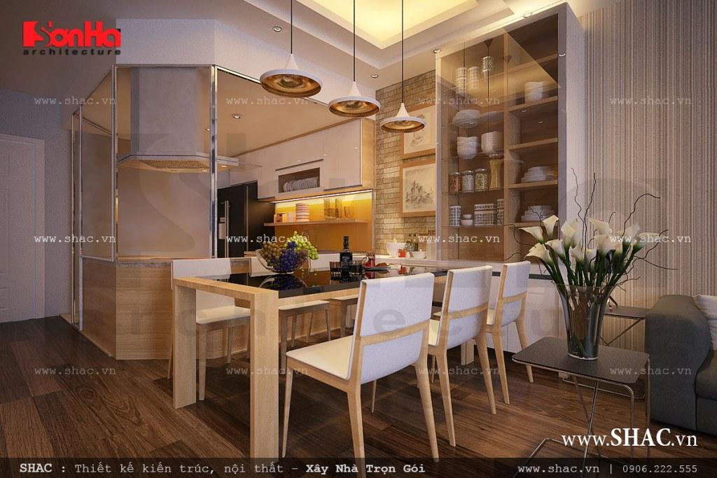 Phòng ăn ấm cúng và hiện đại