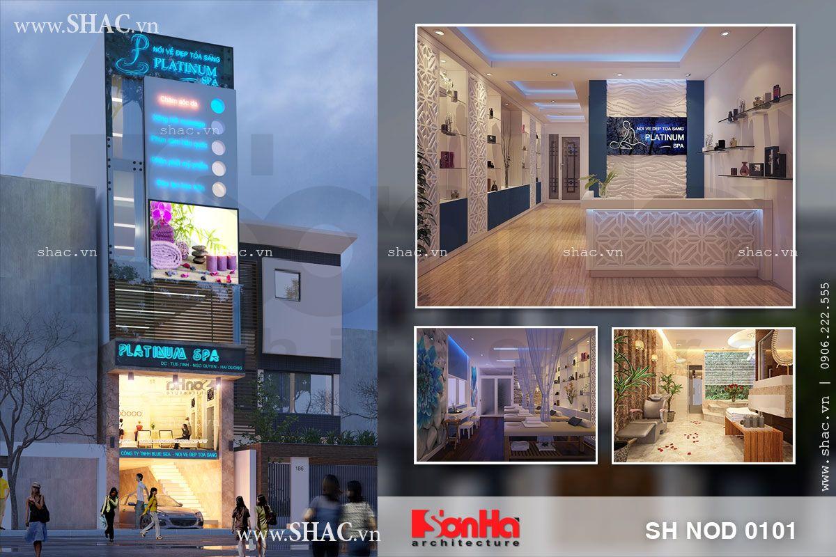 Thiết kế nhà phố kết hợp kinh doanh Spa massage