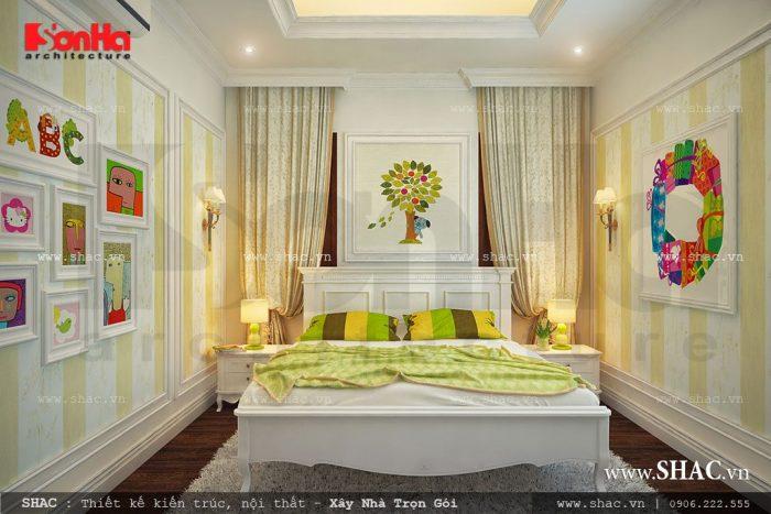 Thiết kế phòng ngủ cho con gái lớn với màu sắc trang nhã