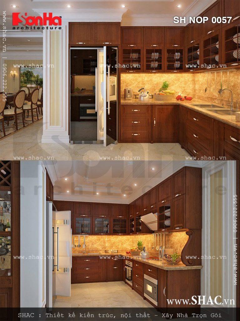 Tủ bếp gỗ hình chữ U