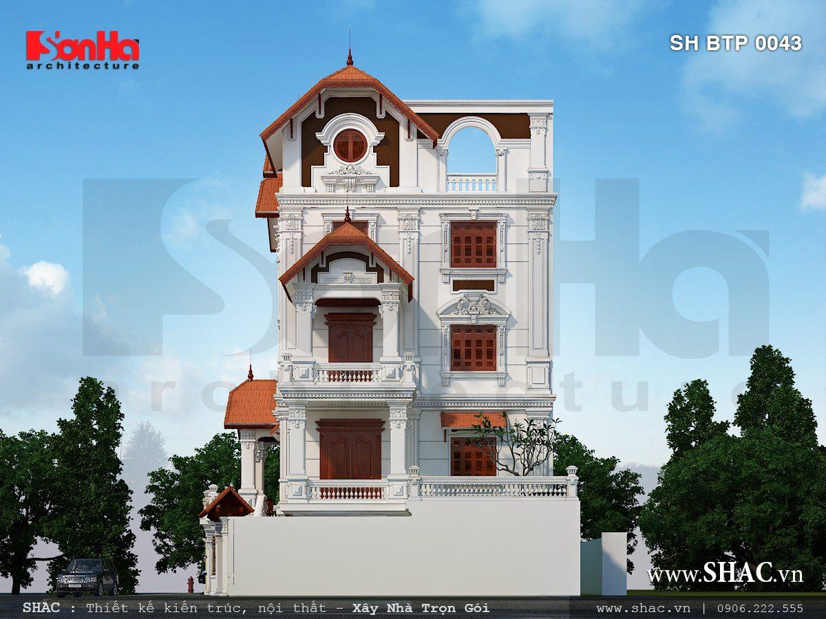 Biệt thự Pháp 5 tầng mái ngói đỏ - SH BTP 0043 3